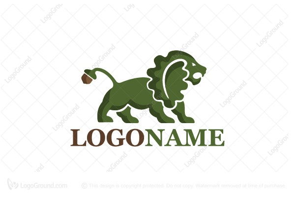 Logo for sale: Oak Lion Logo